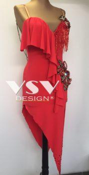 Red Latin sponsored dress