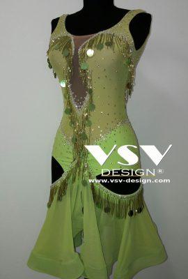 Green latin dress